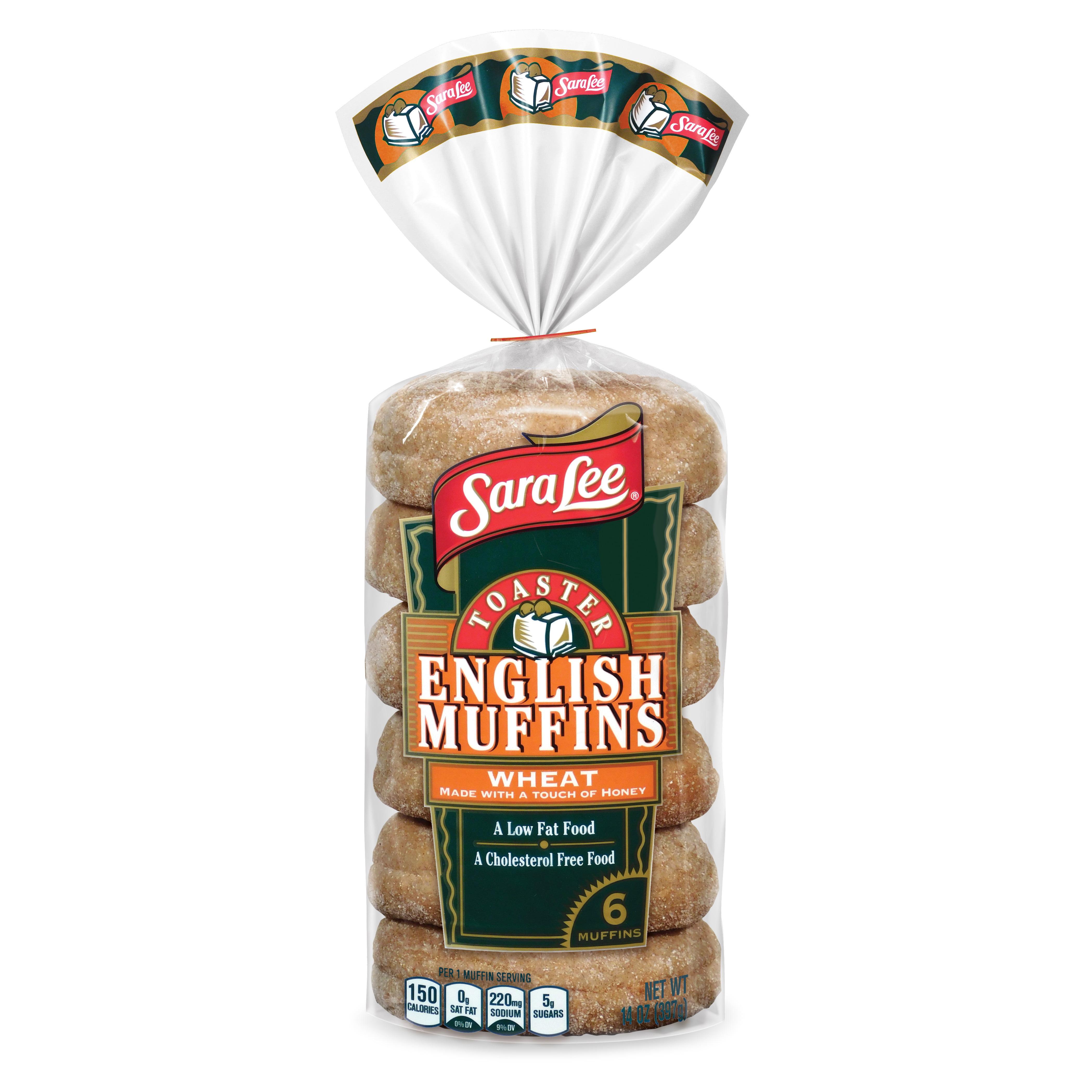 Sara Lee Toaster Wheat English Muffin 6pack 14oz
