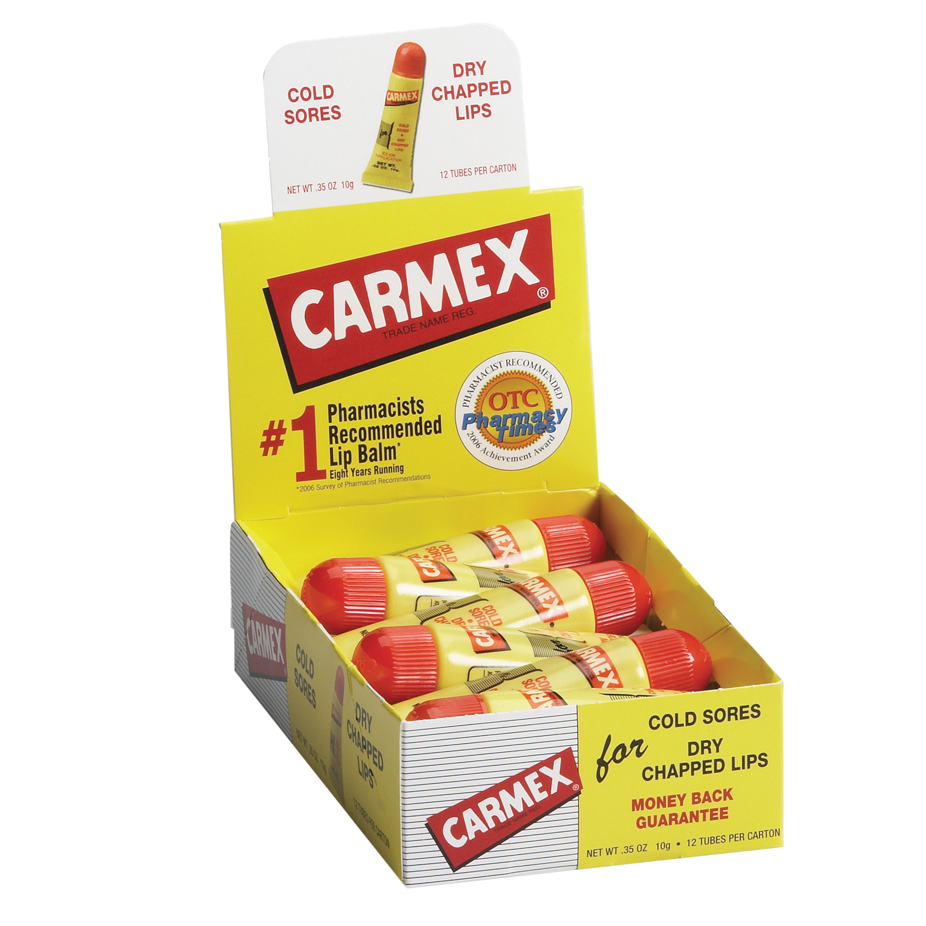 Carmex Moisturizing External Analgesic Lip Balm, Original, .35 Oz
