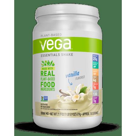Vega Essentials Vegan Protein Powder, Vanilla, 20g Protein, 1.4 Lb