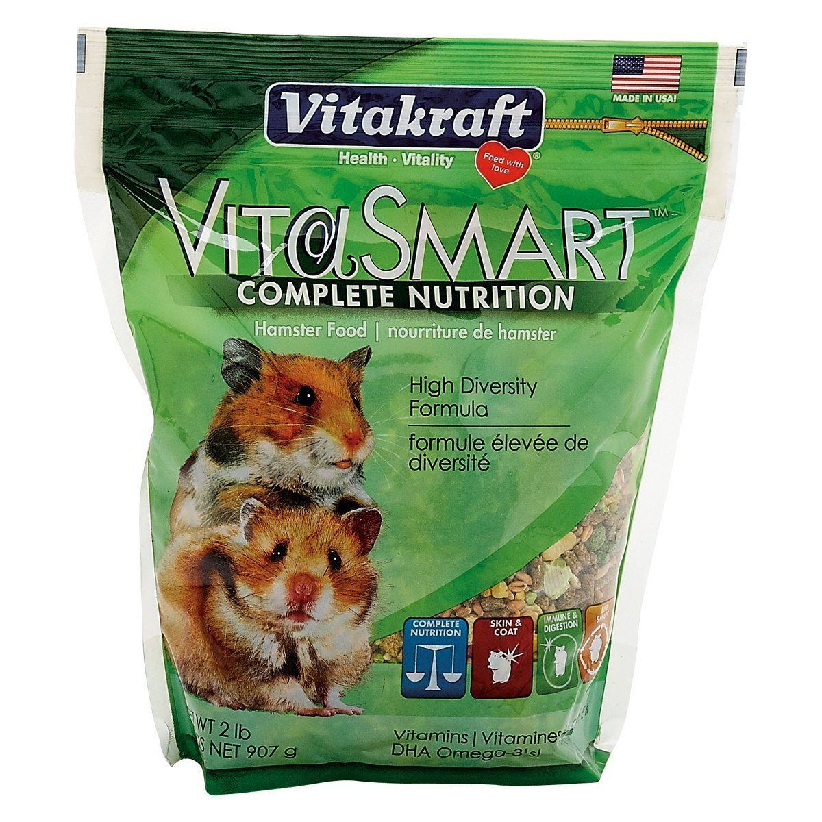 VitaSmart Hamster Food High Diversity Formula, 2 lb., Offers a diverse blend of foods to help meet your... by