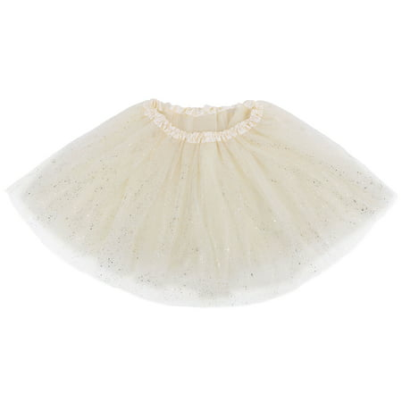 Women's Classic Triple Layered Tulle Tutu Skirt w/ Sparkling - Green Tutu Skirt For Adults