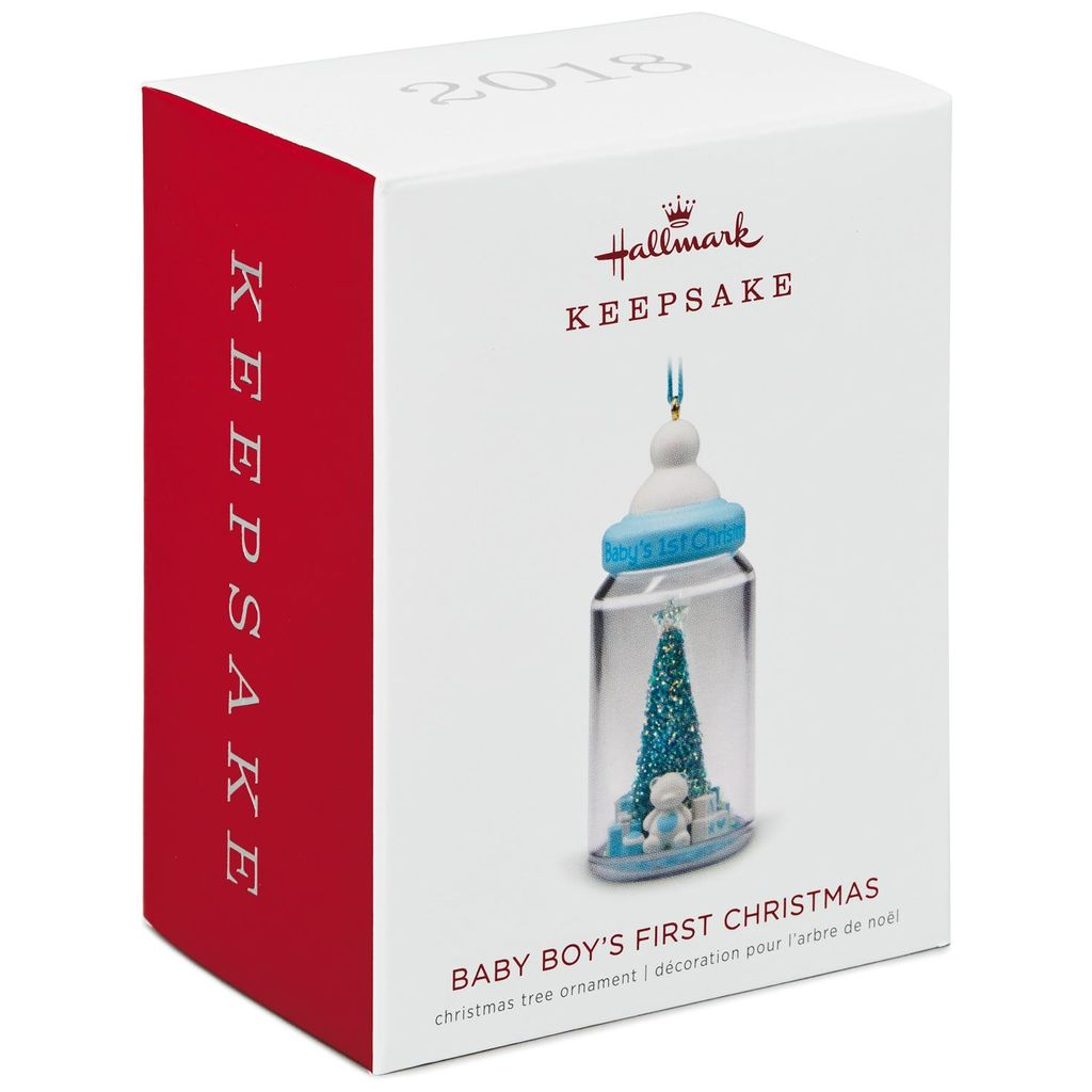 Hallmark Keepsake 2018 Baby Boy's First Christmas Baby Bottle Ornament