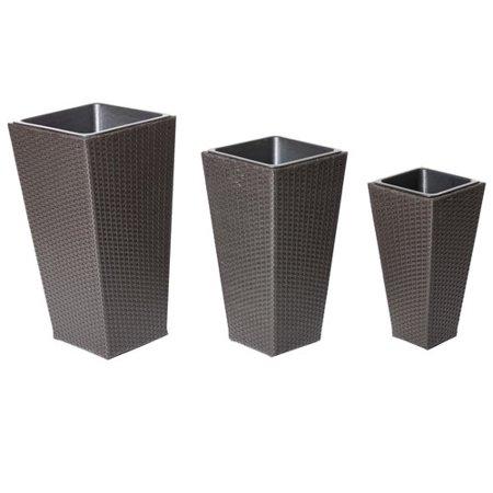 Red Barrel Studio Hallmark 3-Piece Aluminum Pot Planter Set