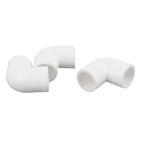 90 Degree Elbow Connector (PVC-U 90 Degree Elbow 20mm Dia Drainage Pipe Adapter Connector White 3 Pcs )