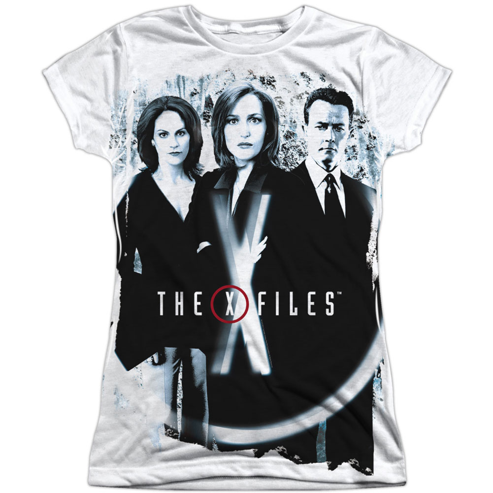 X Files  Three Agents Girls Jr Sublimation White
