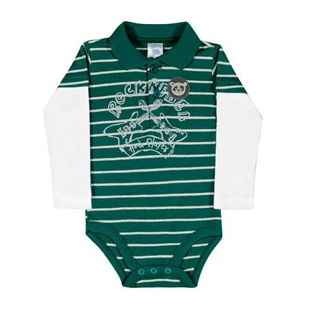 Baby Boy Bodysuit Long Sleeve Newborn Infant Polo Jumper Pulla Bulla 3 12 Months