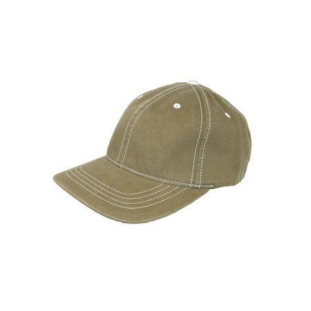 - Size Large/Xlarge Cotton Contrast Stitch Sports Baseball Hat, Olive Green