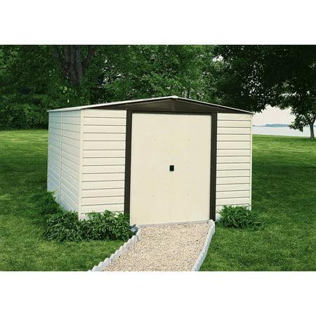 arrow vinyl dallas 10 x 6 steel storage shed - Garden Sheds Vinyl