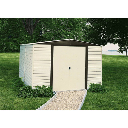 Arrow Vinyl Dallas 10' x 6' Steel Storage Shed