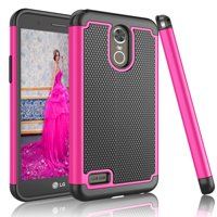 LG Stylo 3 Case, LG Stylo 3 Plus Case For Girls, Tekcoo [Tmajor] Shock Absorbing Rubber Plastic [Rose] Scratch Resistant Defender Bumper Rugged Slim Grip Hard Cover Cases For LG Stylus 3/Stylus 3 Plus