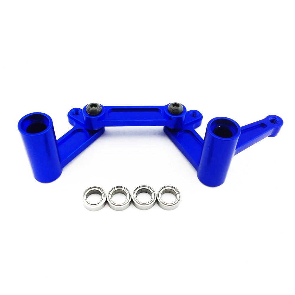 Traxxas Nitro Slash 1:10 Aluminum Alloy Steering Bellcrank Set Hop Up Upgrade, Blue by... by Atomik RC