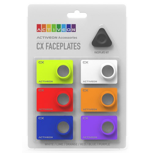 ACTIVEON CX CA08FBS Colored Faceplates for the CX Action Camera