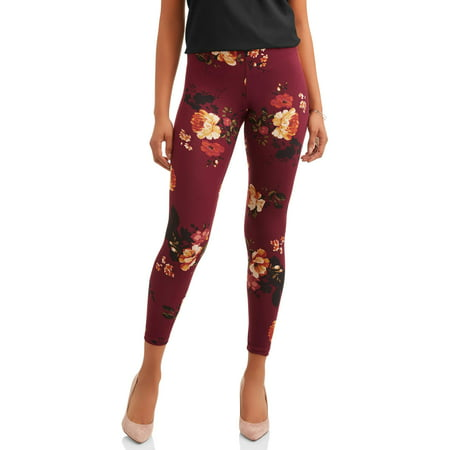 (French Laundry Women's Floral Printed Super Soft Legging)