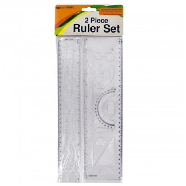 Bulk Buys HX121-96 Alphabet & Number Stencil Ruler Set - ...