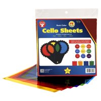 Hygloss Cello Sheets - 12'' x 12'', Pkg of 48 Sheets