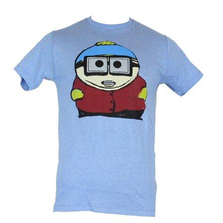 South Park Mens T-Shirt -  Cartman Big Glasses Little Piggy Super Nerd Image