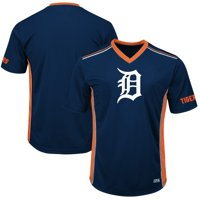 Men's Majestic Navy/Orange Detroit Tigers Big & Tall Memorable Moments T-Shirt
