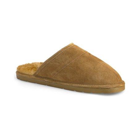 Lamo Footwear Men's Scuff Leather Slippers - P103m-92