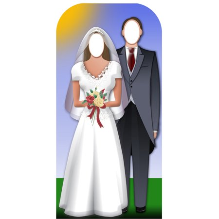 Star Cutouts Wedding Couple Cardboard Cutout Life Size Stand-In