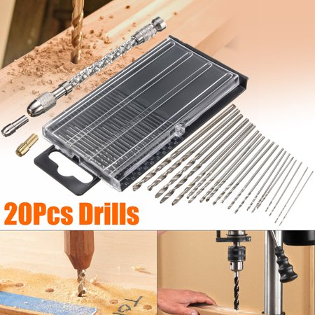 Twist Dril,21Pcs Hand Twist Drill Micro High Speed Steel Bits Jewelers Sliding Drilling Spiral Tool Drill Bit Watch Repair Model Craft Tools Kit