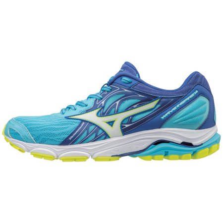 mizuno women's wave inspire 14 running shoe, aquarius/white, 12 b (Mizuno Womens Mustang)
