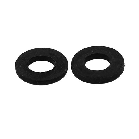 M4 x 8mm x 1mm Nylon Flat Washers Spacers Gaskets Fastener Black 200PCS - image 1 of 2