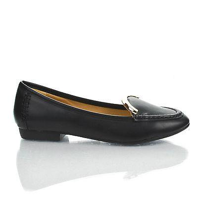 - Vedys1 by Kayleen, Almond Toe Metal Plated Collar Slip On Low Heel Loafers
