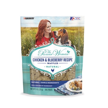 The Pioneer Woman Natural Dog Treats; Chicken & Blueberry Recipe Waffles - 9 oz. - Halloween Recipes Treats