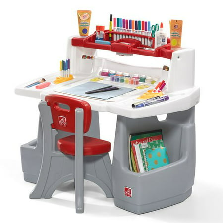 Step2 Deluxe Art Master Kids 2 Piece Art and Crafts Table and Chair Set