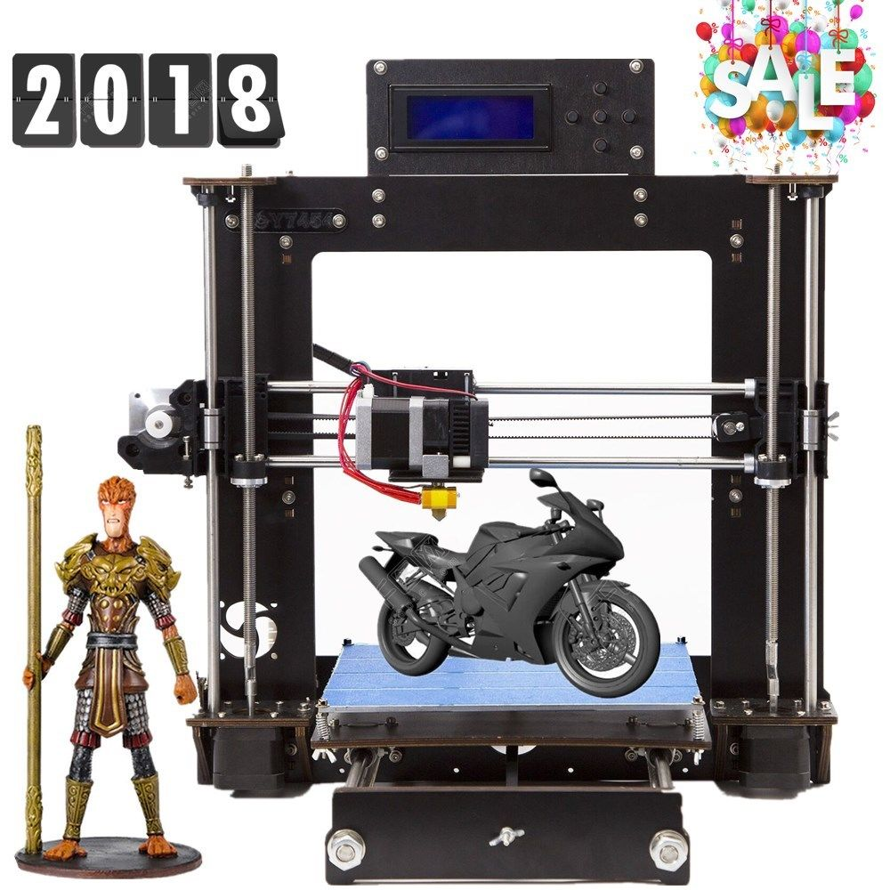 Anet A8 3D Printer with Included Filament Prusa i3 DIY 3D Printer Prints ABS, PLA, and Lots More