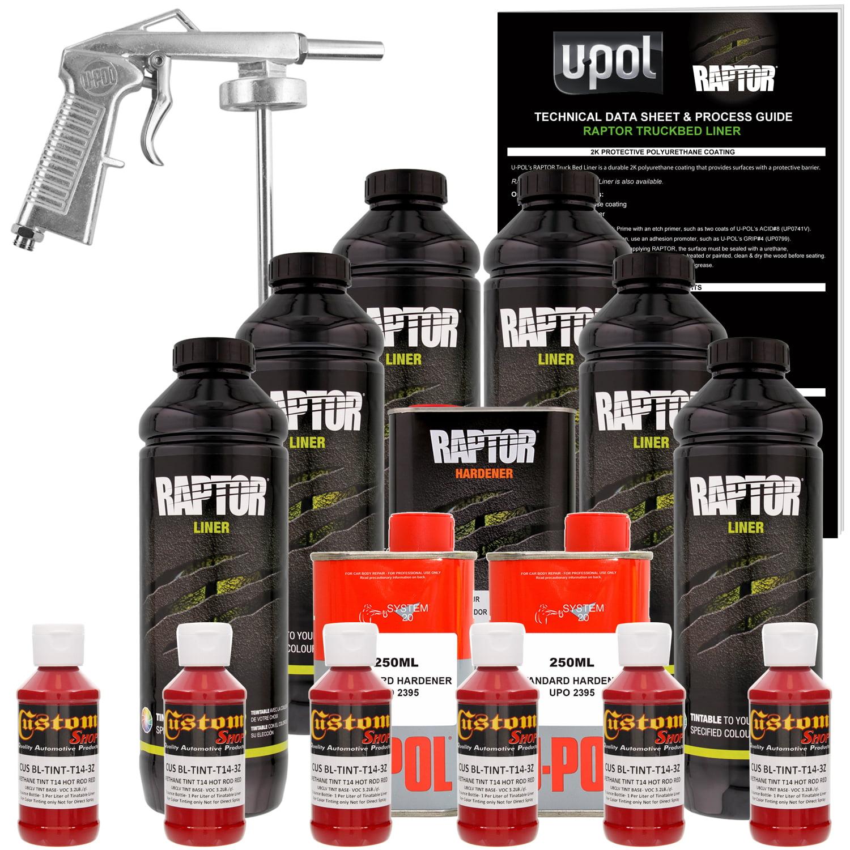 Raptor Hot Rod Red Urethane Spray-On Truck Bed Liner Spray Gun, 6 Liters