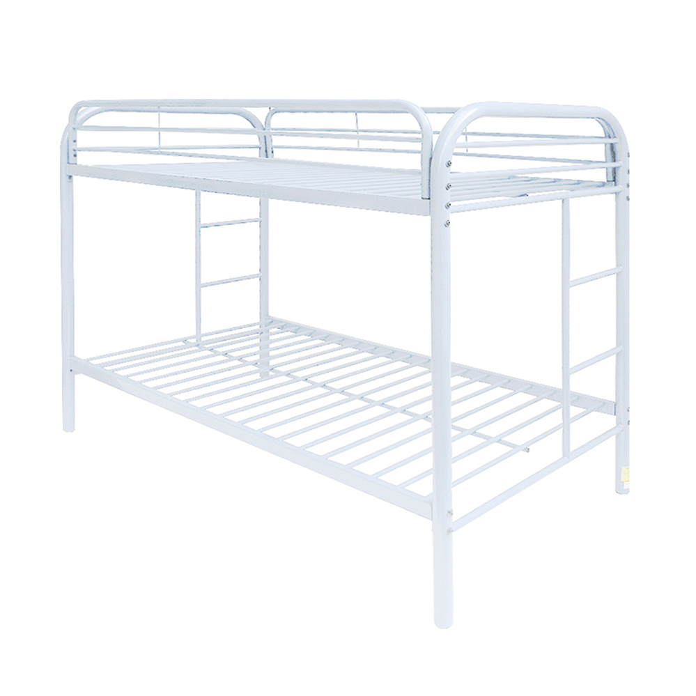 Acme Eclipse Twin Over Twin Metal Bunk Bed White Walmart Com
