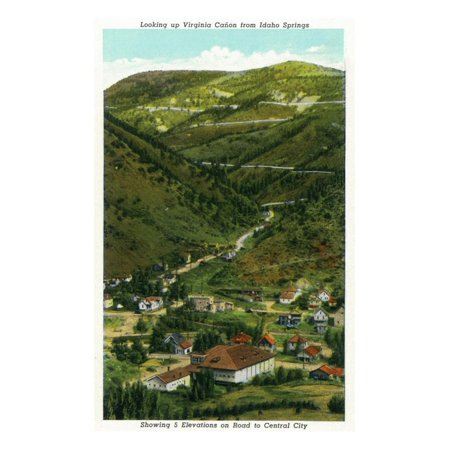 Idaho Springs, CO, Virginia Canyon from Town, 5 Elevations on Road to Central City View Print Wall Art By Lantern Press - Party City In Virginia