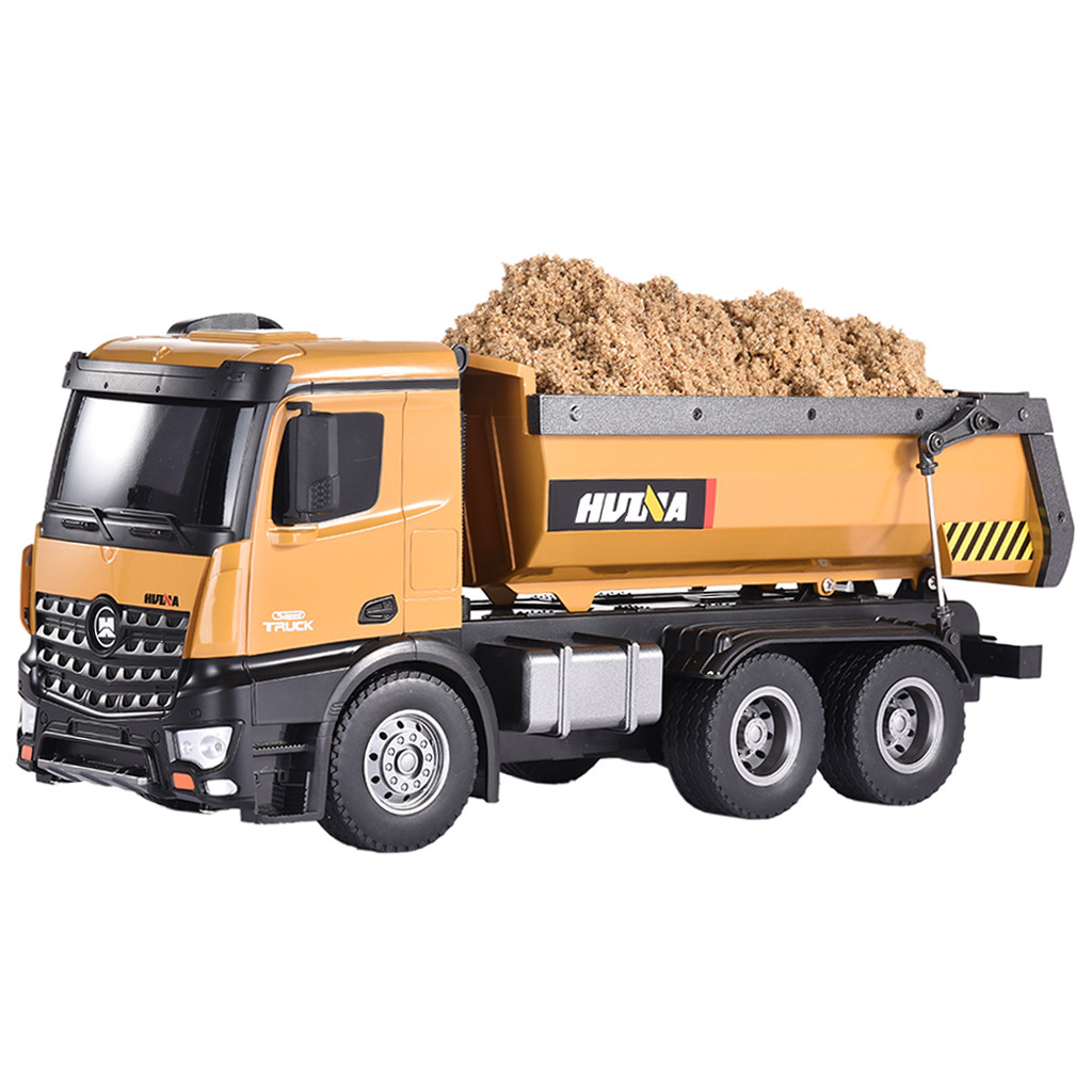 Canvas Bucket Loader Unloading Gravel into Dump Truck Art print POSTER