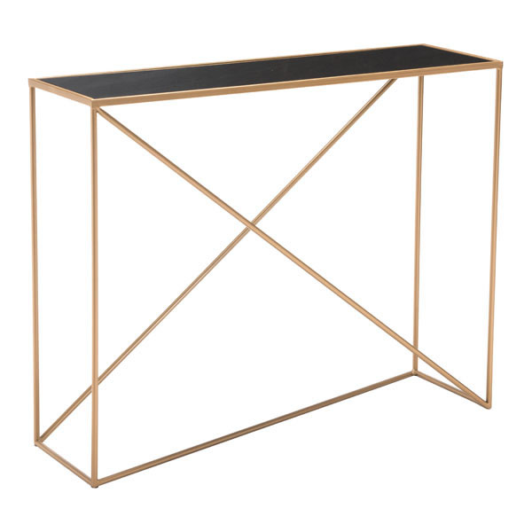 Sixty Console Table Black & Gold