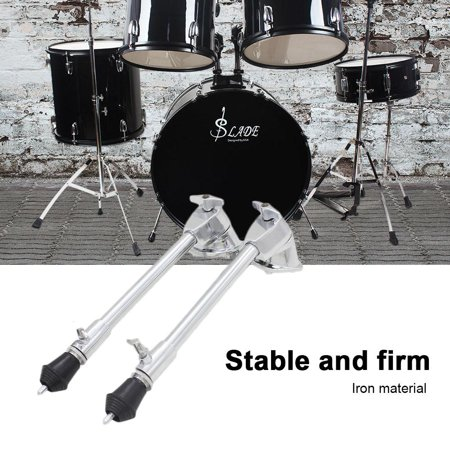 Zerone Drum Leg,Drum Spur,1 Pair Iron Plating Metal Anti-rust Stable Bass Drum Stands Spurs
