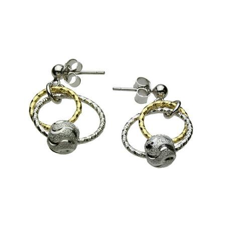 (Sterling Silver Rings Beads Diamond-Cut Ball Nickel Free Italy Earrings)