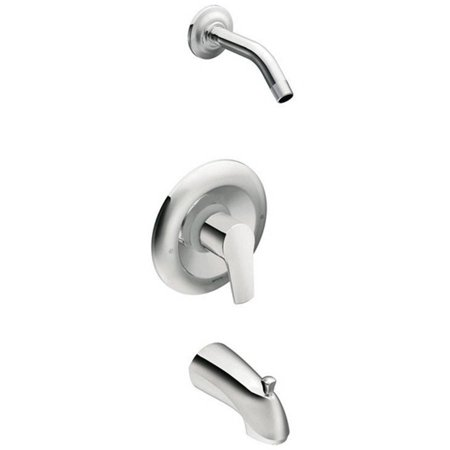 Moen T62803NH Method Bath and Shower Faucet with Posi-Temp Pressure Balanced Trim without Shower Head, Chrome