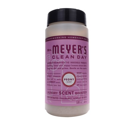 Mrs. Meyer's Clean Day Laundry Scent Booster, Peony, 18 Ounces