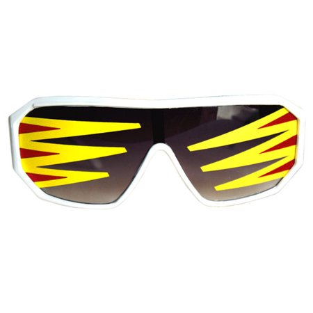 69de3b0b131 Rasslor Side Spikes White Shield Sunglasses Macho Man Randy Savage Costume  - Walmart.com