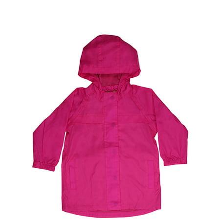 Western Chief Girls' Solid Nylon Rain Slicker Coat