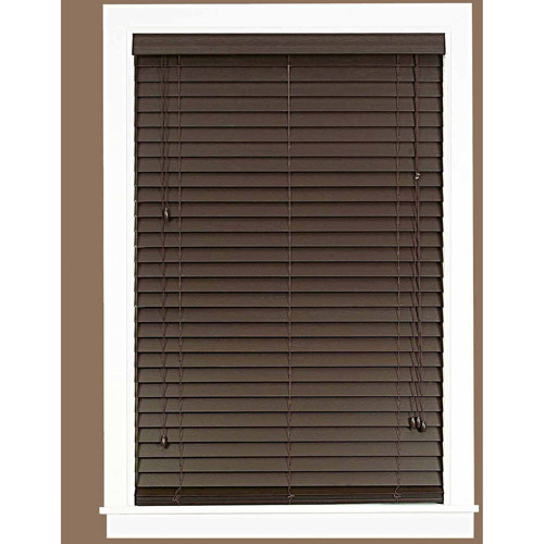 "Madera Falsa 2"" Faux Wood Plantation Blinds"