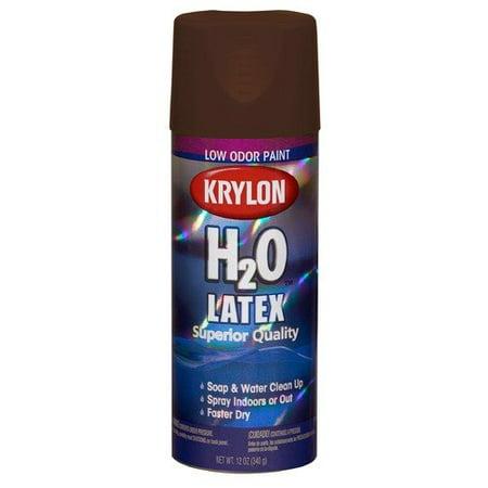 krylon java sea brown h2o the super smooth latex spray. Black Bedroom Furniture Sets. Home Design Ideas