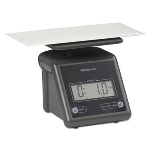 Brecknell Electronic Postal Scale, 7 lbs Capacity, Platform, Gray (SBWPS7GRAY) by