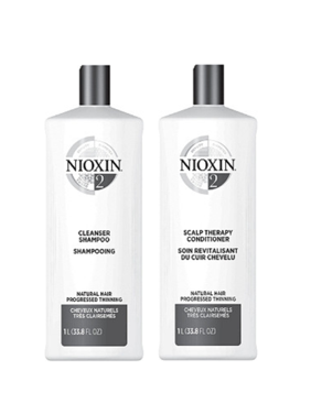 ($92 Value) Nioxin System 2 Cleanser & Scalp Therapy Shampoo and Conditioner Duo, 33.8 Oz