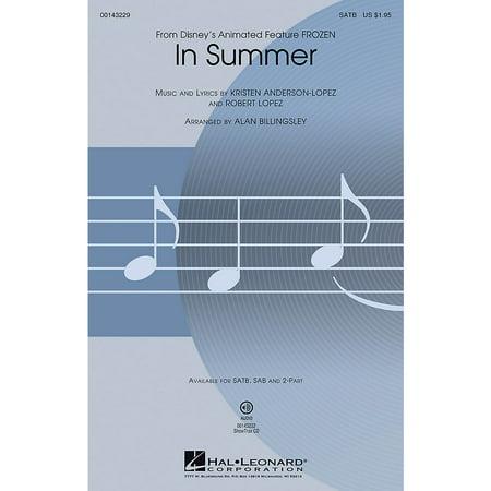Hal Leonard In Summer (from Frozen) 2-Part Arranged by Alan Billingsley (In Summer Frozen)