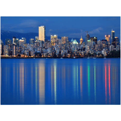 "Trademark Fine Art ""Vancouver City"" Canvas Art by Pierre Leclerc"