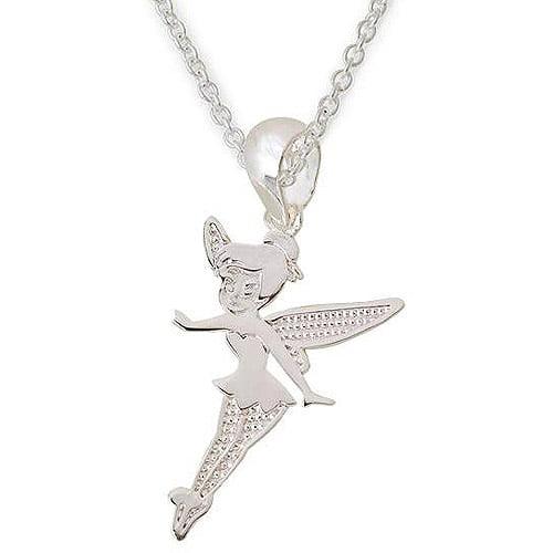 "Disney Tinker Bell Sterling Silver Pendant, 18"""