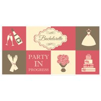 Party in Progress Bachelorette Party Banner