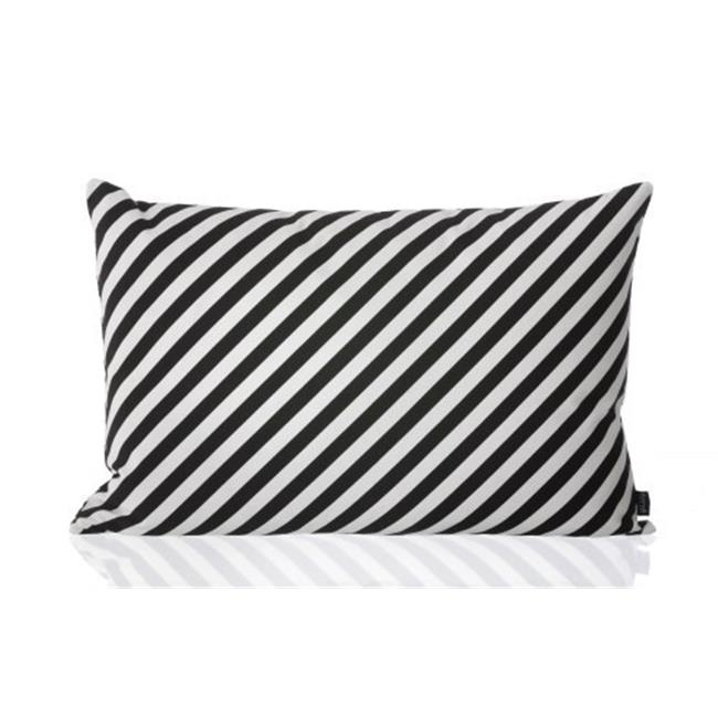FERM LIVING 7353 Canvas Cushions - ORGANIC COTTON - Black Stripe Cushion 60X40cm